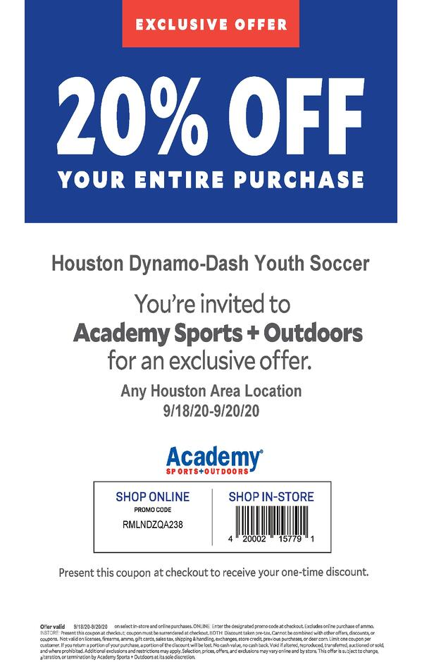 Academy Sports + Outdoors Regional Offer_9.18.20