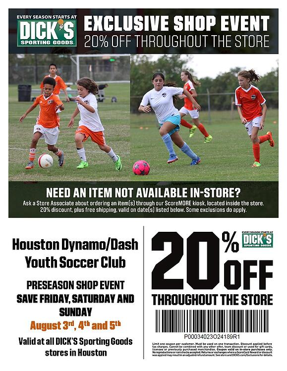DICK's Sporting Goods Preseason 3-5 2018