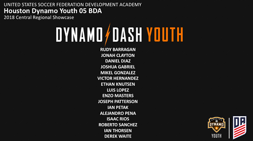 HDY 05BDA Roster - 2018 Central Regional Showcase